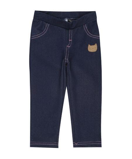 Calça Legging Jeans Azul Médio