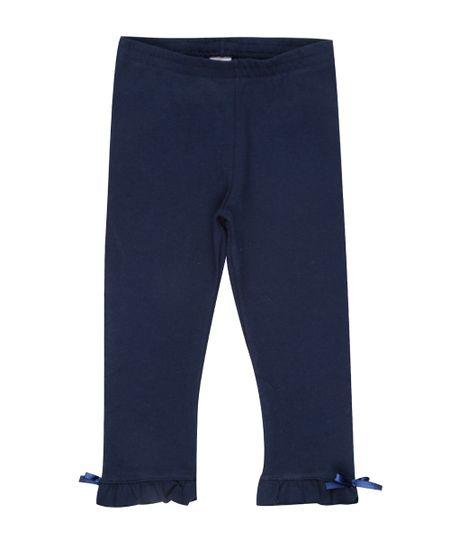 Calça Legging com Laço Azul Marinho