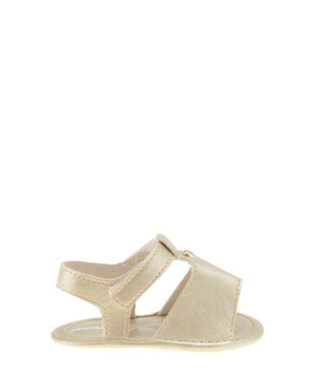 Sandália Pimpolho Metalizada Dourada