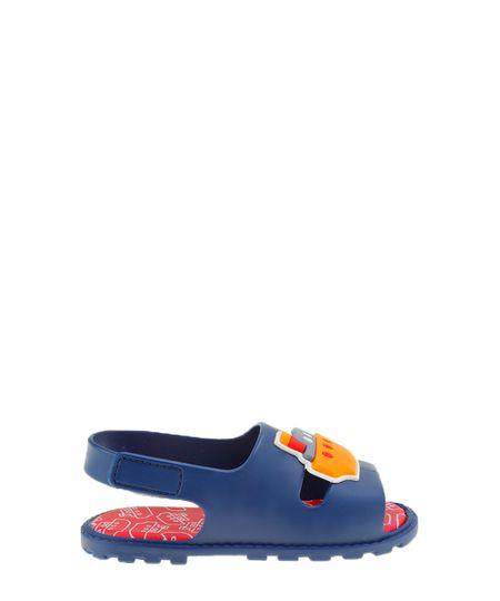 Sandália Pimpolho com Navio Azul Marinho