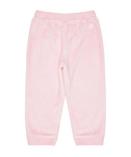 Calça em Plush de Algodão + Sustentável Rosa
