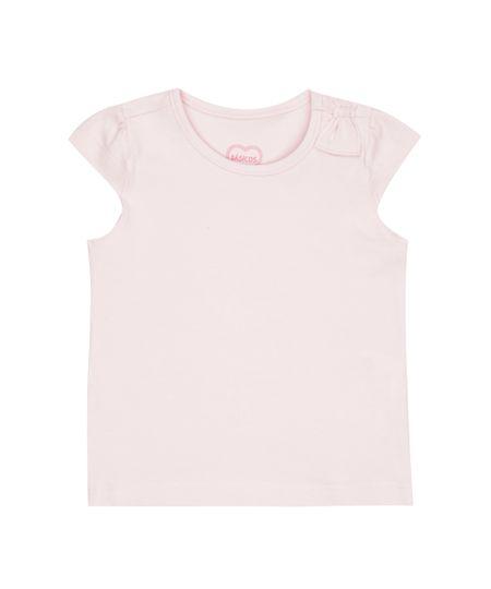 Blusa Básica com Laço Rosa Claro
