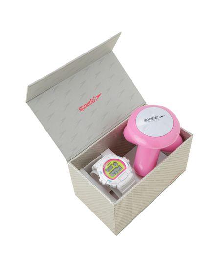 Kit de Relógio Speedo Digital Feminino + Massageador - 65083L0EVNP5K1 Branco