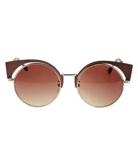 Oculos-Redondo-Feminino--Dourado-8524713-Dourado_1