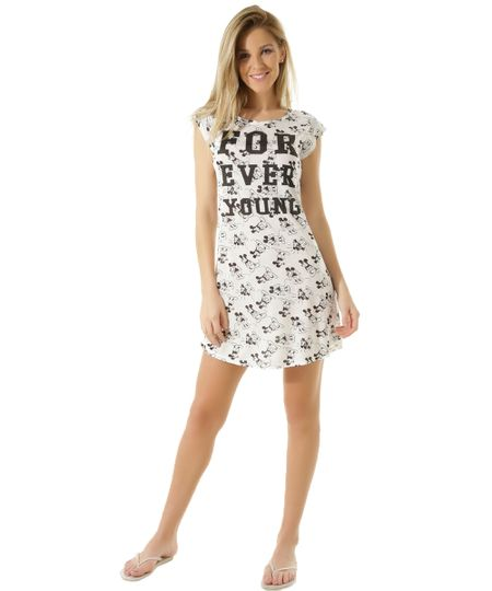 Camisola Mickey Off White