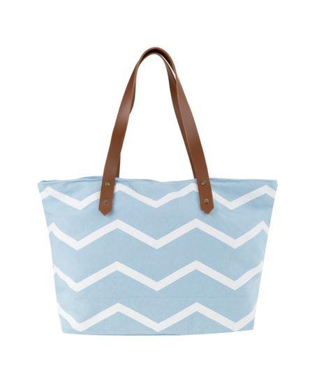 Bolsa Shopper Azul Claro