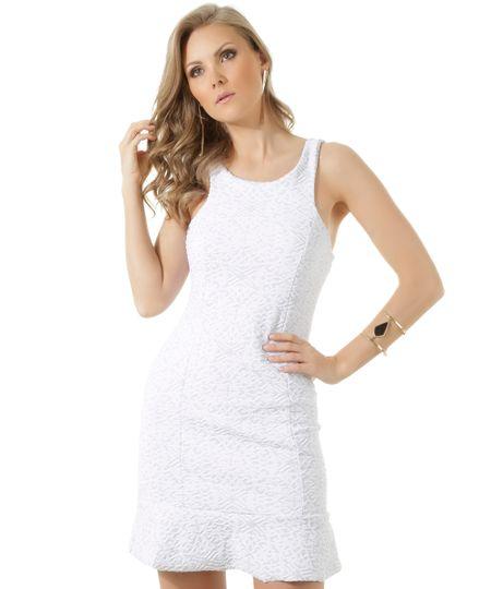 Vestido em Jacquard Iódice Branco