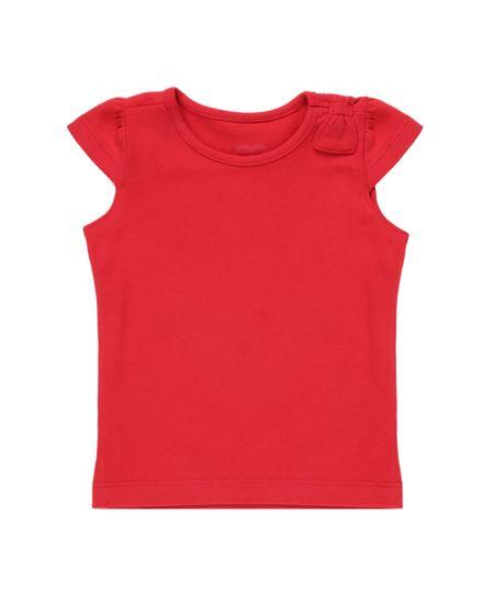 Blusa Básica com Laço Vermelha