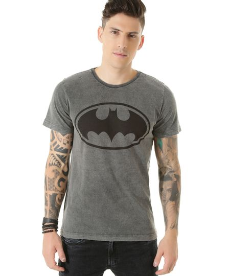 Camiseta Batman Cinza