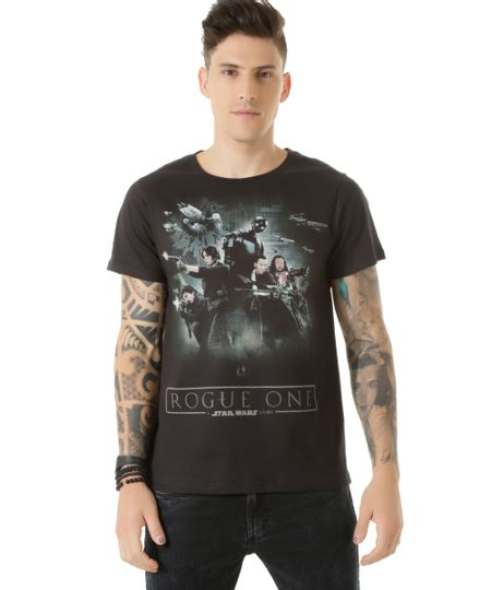 Camiseta Star Wars - Rogue One Preta