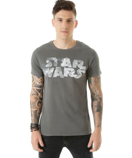 Camiseta Star Wars Cinza