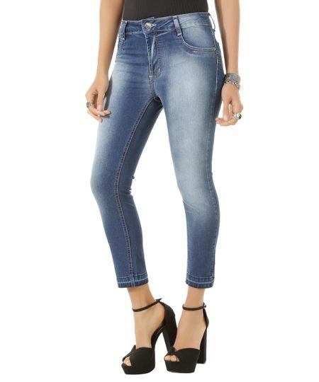 Calça Jeans Capri Sawary Azul Médio