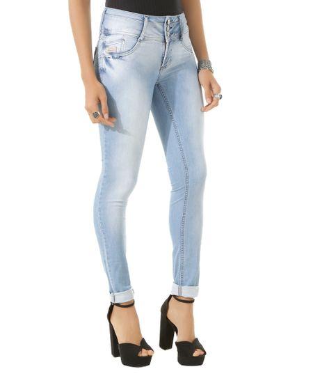 Calça Jeans Skinny Sawary Azul Claro