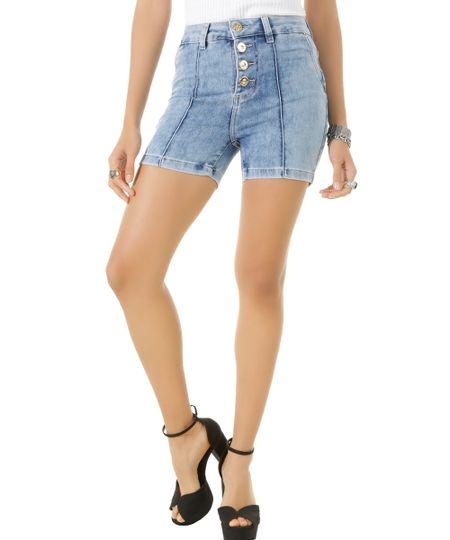 Short Hot Pant Jeans Sawary Azul Médio