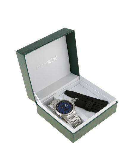 Relógio Analógico Mondaine Troca Pulseiras Masculino - 78686G0MVNA2 Prateado