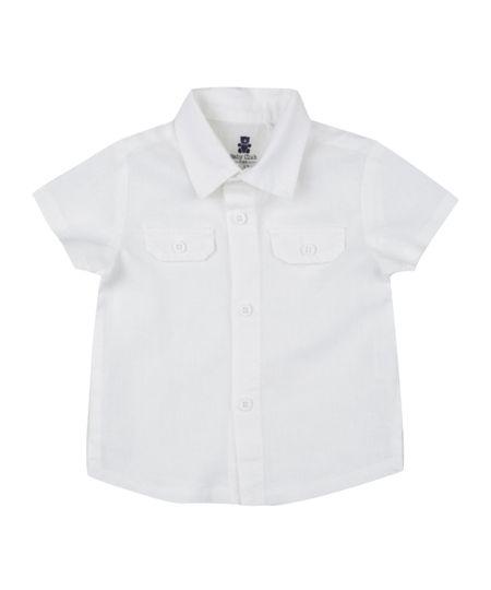 Camisa em Linho Off White