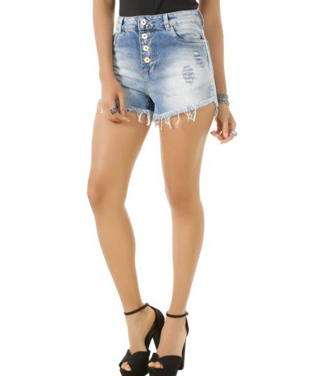 Short Jeans Reto Sawary Azul Claro