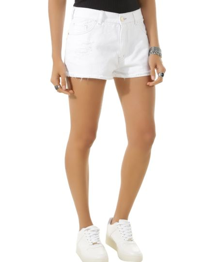 Short Relaxed Off White