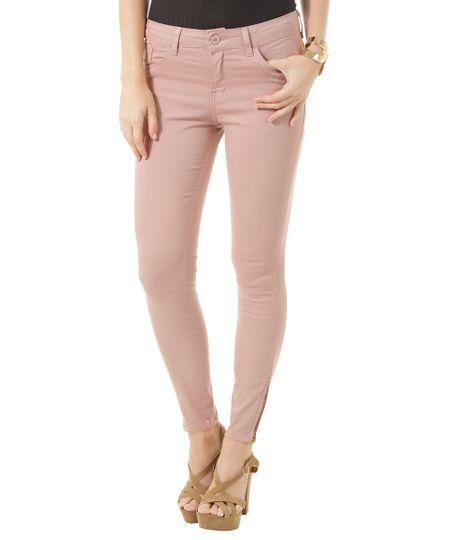 Calça Super Skinny Rosa Claro