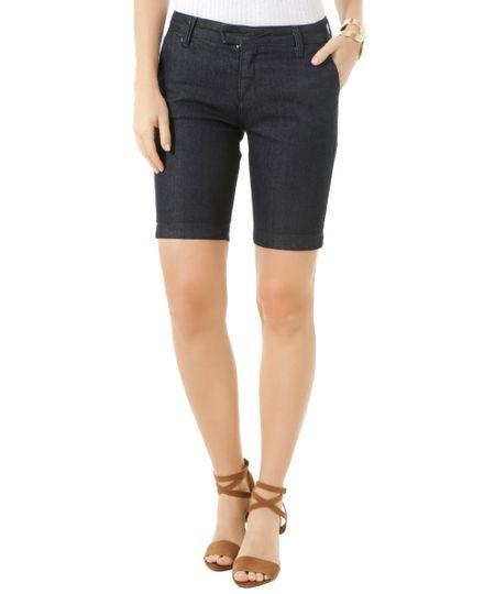Bermuda Jeans Azul Escuro