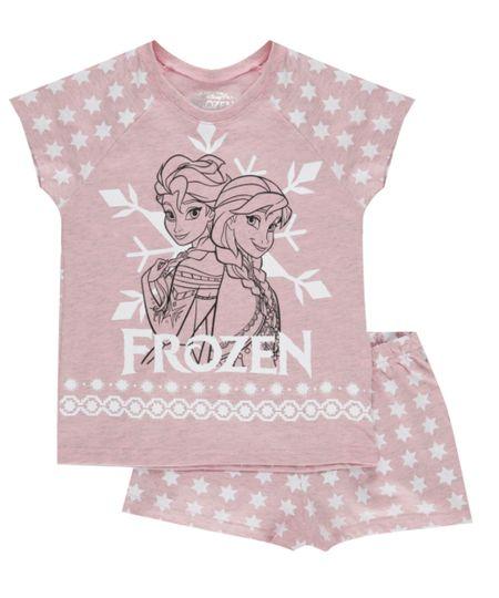 Pijama Estampado Frozen Rosa Claro
