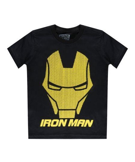Camiseta Homem de Ferro Preta