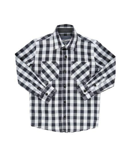 Camisa Xadrez Preto