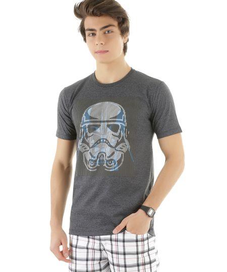Camiseta Stormtrooper Cinza Mescla