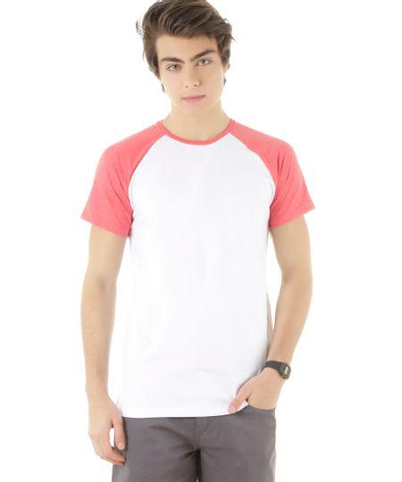 Camiseta Raglan Branca