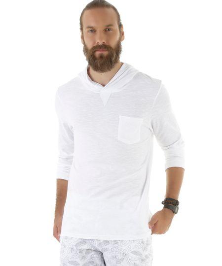 Camiseta Básica com Capuz Branca