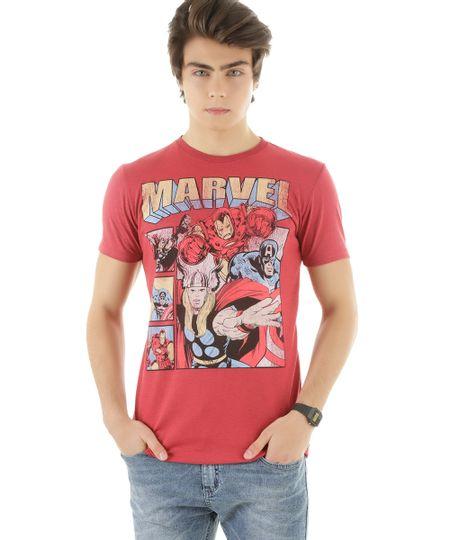 Camiseta Os Vingadores Vermelha
