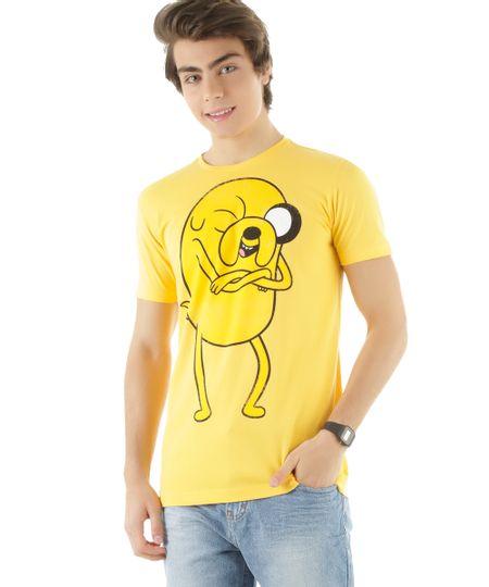 Camiseta Hora de Aventura Amarela
