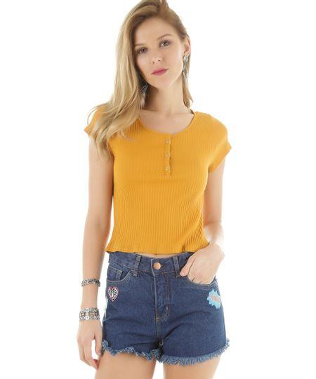 Blusa Básica Amarela