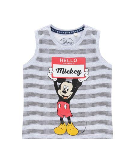Regata Mickey Cinza Mescla
