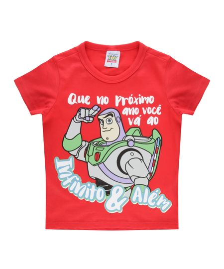 Camiseta Buzz Lightyear Vermelha