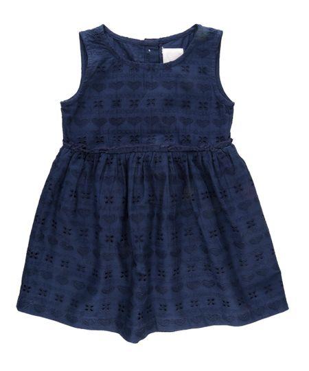 Vestido em Laise Azul Marinho