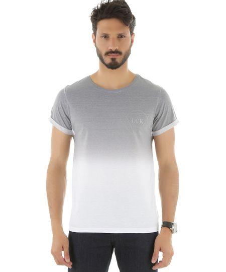 Camiseta Degradê Cinza