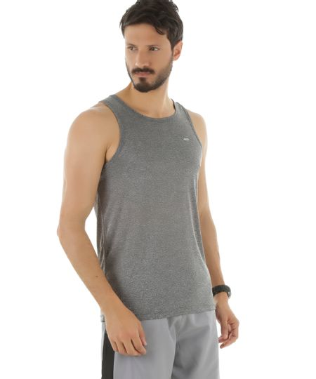 Regata Ace Basic Dry Cinza Mescla