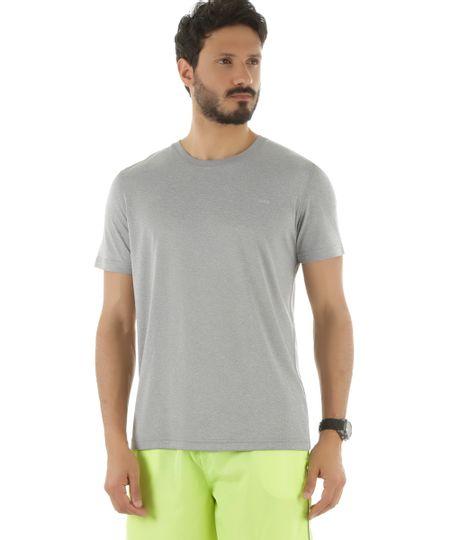 Camiseta Ace Basic Dry Cinza Mescla Claro