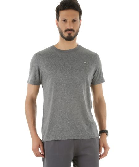 Camiseta Ace Basic Dry Cinza Mescla