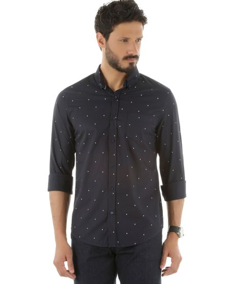 Camisa-Social-Estampada-de-Ancoras-Azul-Marinho-8452753-Azul_Marinho_1