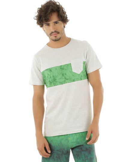 Camiseta com Bolso Rangiroa Cinza Mescla