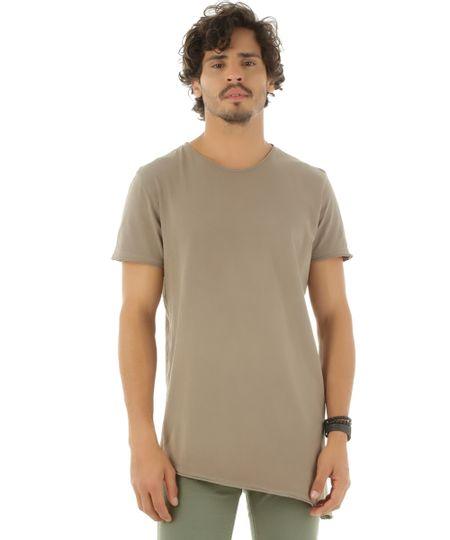 Camiseta Assimétrica Verde