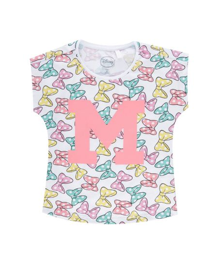 Blusa Estampada Minnie Branca