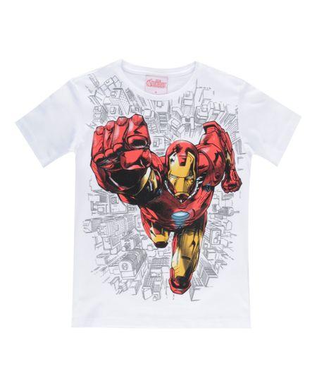 Camiseta Homem Ferro Branca
