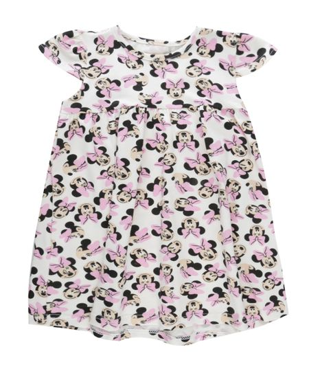 Vestido Estampado Minnie Off White