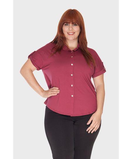 Camisa Prega Costas Plus Size