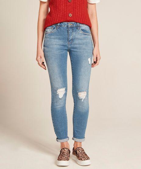 18cf90b5b Calca Jeans Cigarrete Azul Medio 42 em promoção - Compre Online ...