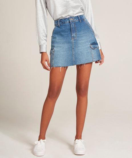 cedb3e66df Saias Jeans 34 em promoção - Compre Online - Melhores Preços