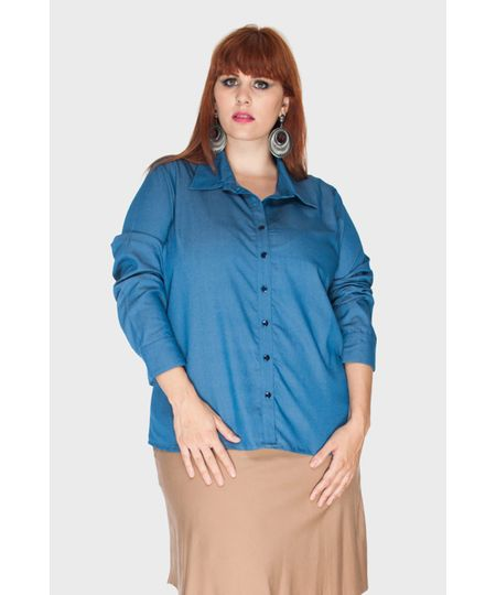 Camisa Chelsea Jeans Plus Size